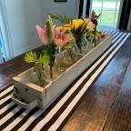 Home decor: diy flower tablescape